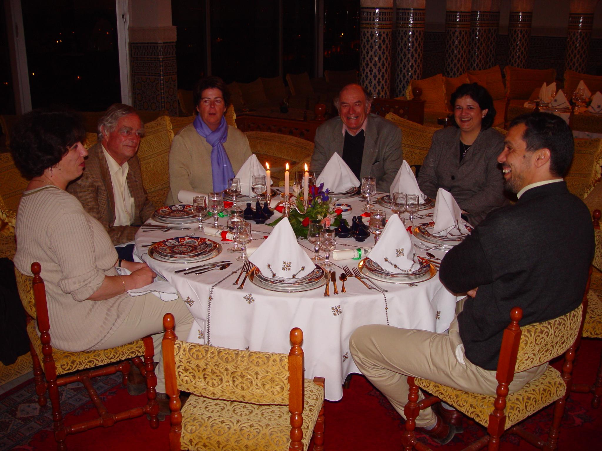 Feu Luc Hoffmann au diner à l'hotel les Mérénides Fès avril 2002